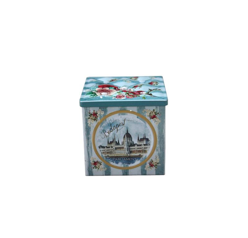 创意正方形台湾乌龙茶铁罐加工工厂