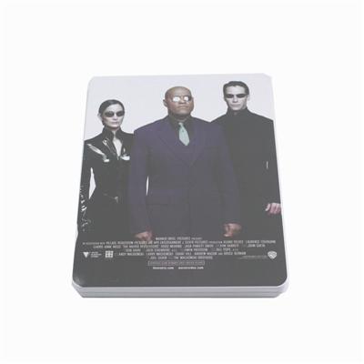 黑客帝国高票房电影DVD包装盒铁盒 光碟包装盒金属盒