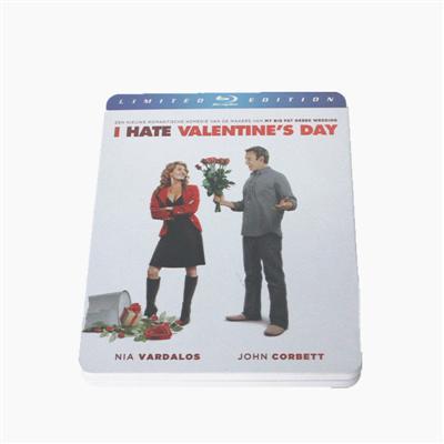 我恨情人节美国搞笑电影光碟包装铁盒厂家 东莞马口铁DVD包装金属盒铁盒