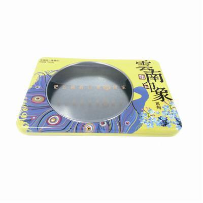 云南印象系列宣传片DVD包装金属盒 开窗式旅游文化宣传片光碟包装铁盒定制生产