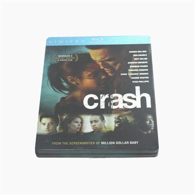 撞车犯罪剧情电影铁盒包装盒 专业生产出口光碟包装铁盒厂家