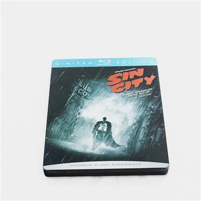 罪恶之城犯罪惊悚片金属包装铁盒 厂家生产批发优质马口铁蓝光DVD包装盒