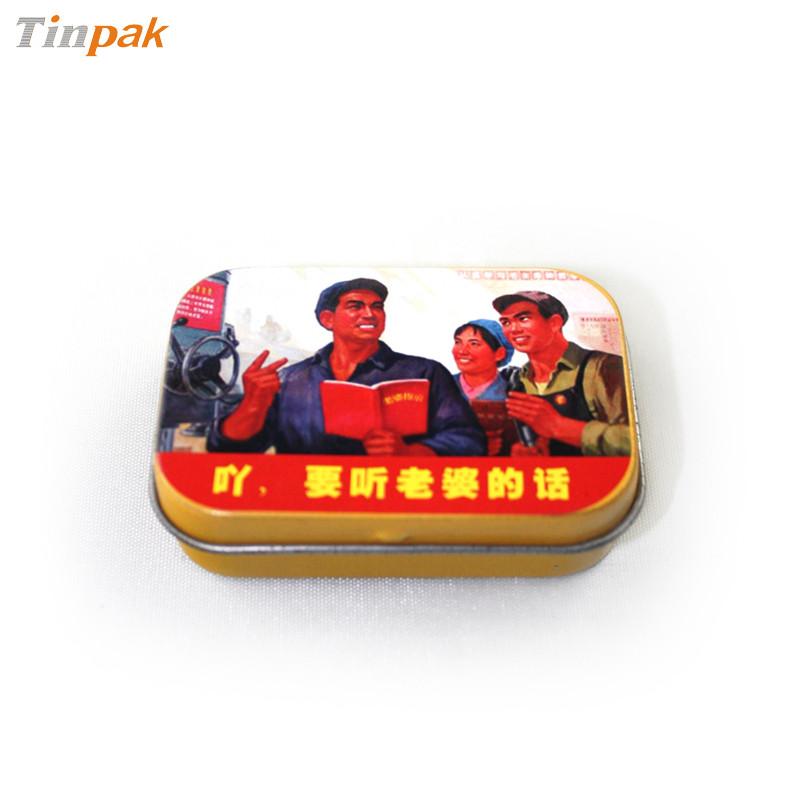 精致迷你翻盖口香铁盒生产定制工厂