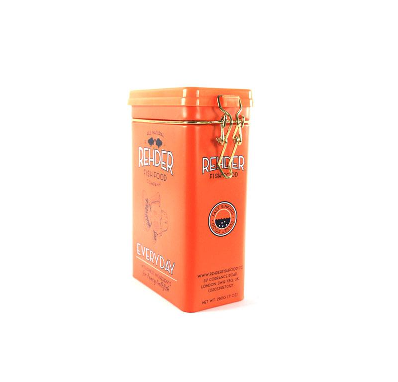 创意长方形祁门红茶包装铁盒制作工厂