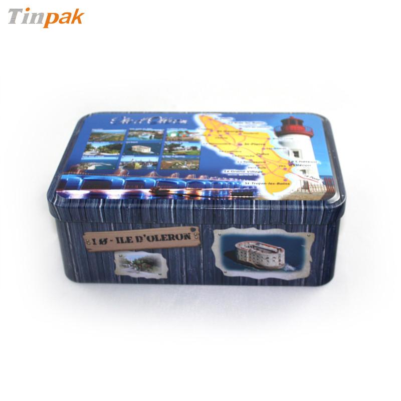 定制生产精美可叠放带铰阿胶马口铁盒