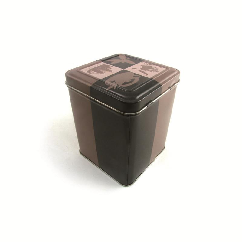 生产定制方形翻盖灵芝片马口铁罐