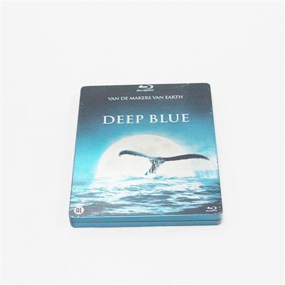 深蓝海洋记录片蓝光DVD包装铁盒定制生产