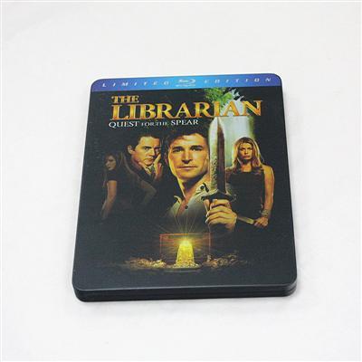 图书馆员寻找命运之矛探险奇幻电影蓝光光碟包装金属铁盒生产