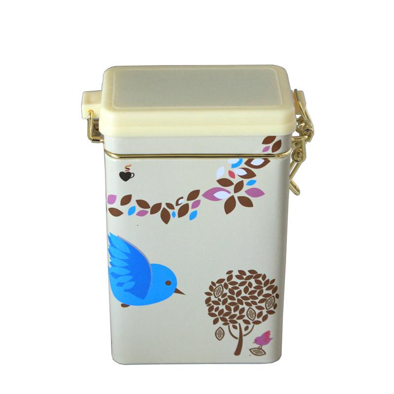 方形塑胶盖云南普洱散茶铁罐子定制工厂