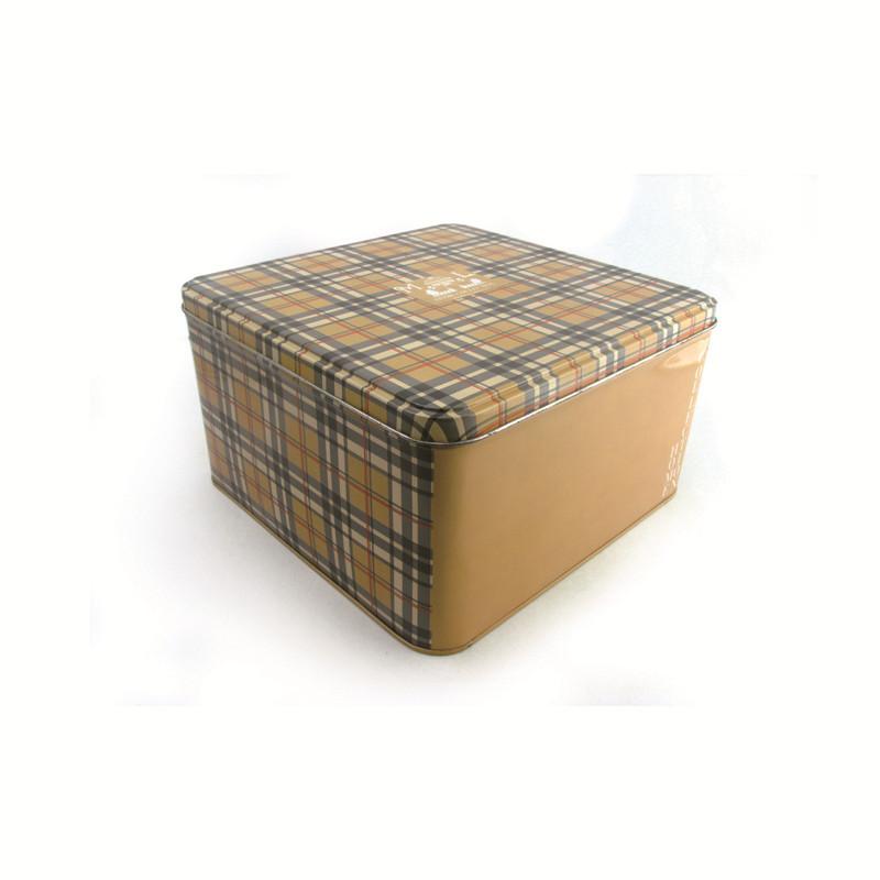 高档方形饼干马口铁盒制造厂