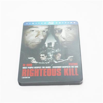 正义杀戮电影包装马口铁铁盒DVD包装盒生产厂家