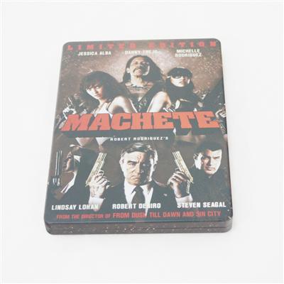 弯刀暴力犯罪电影DVD马口铁包装盒生产厂家