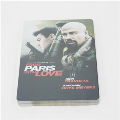 巴黎谍影美国犯罪电影光盘DVD包装盒马口铁制罐厂