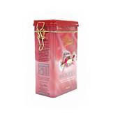 粉色带雕刻糖果铁盒定制|糖果铁盒批量生产