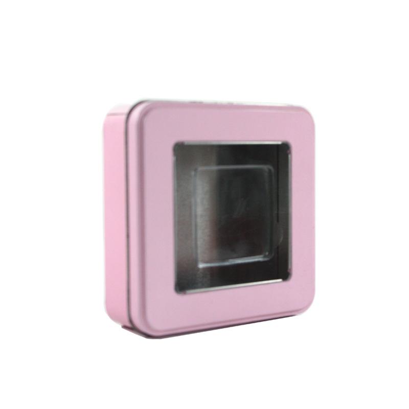 高档方形开窗饼干铁盒定制生产