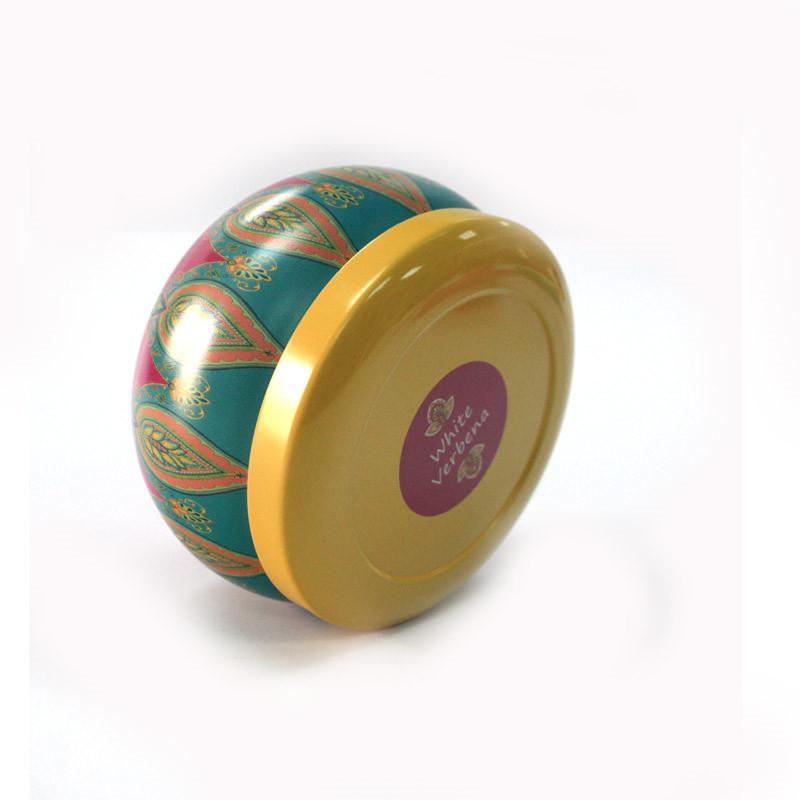 创意圆形蜡烛金属铁罐定制批发