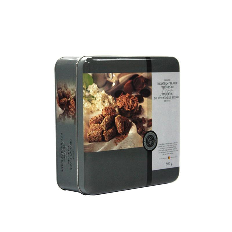 高档巧克力马口铁包装铁盒定制