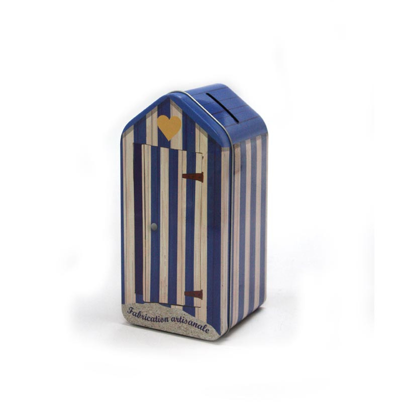 创意屋子形饼干铁盒生产定做工厂