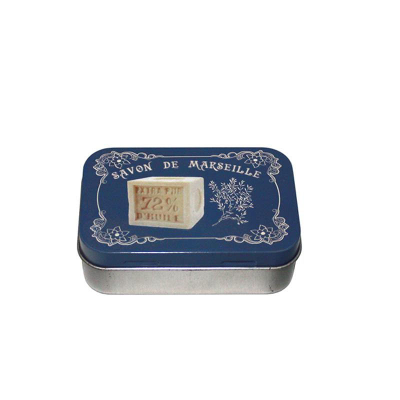 方形带铰链手工皂铁盒定制工厂