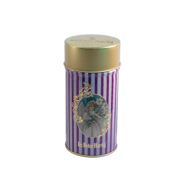 创意圆形螺旋藻包装铁罐制罐工厂