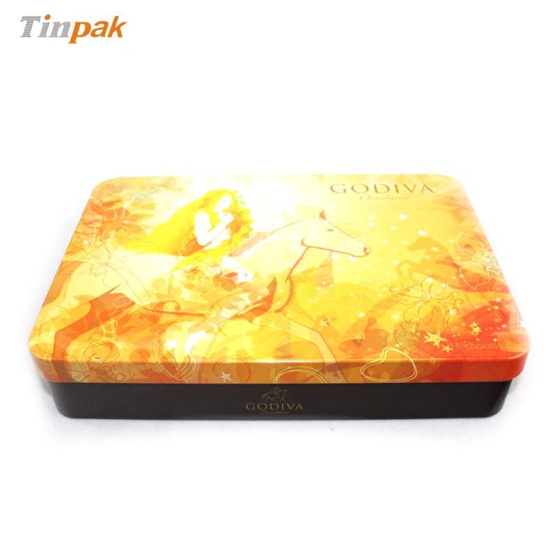 广东厂家定做马口铁巧克力包装铁盒