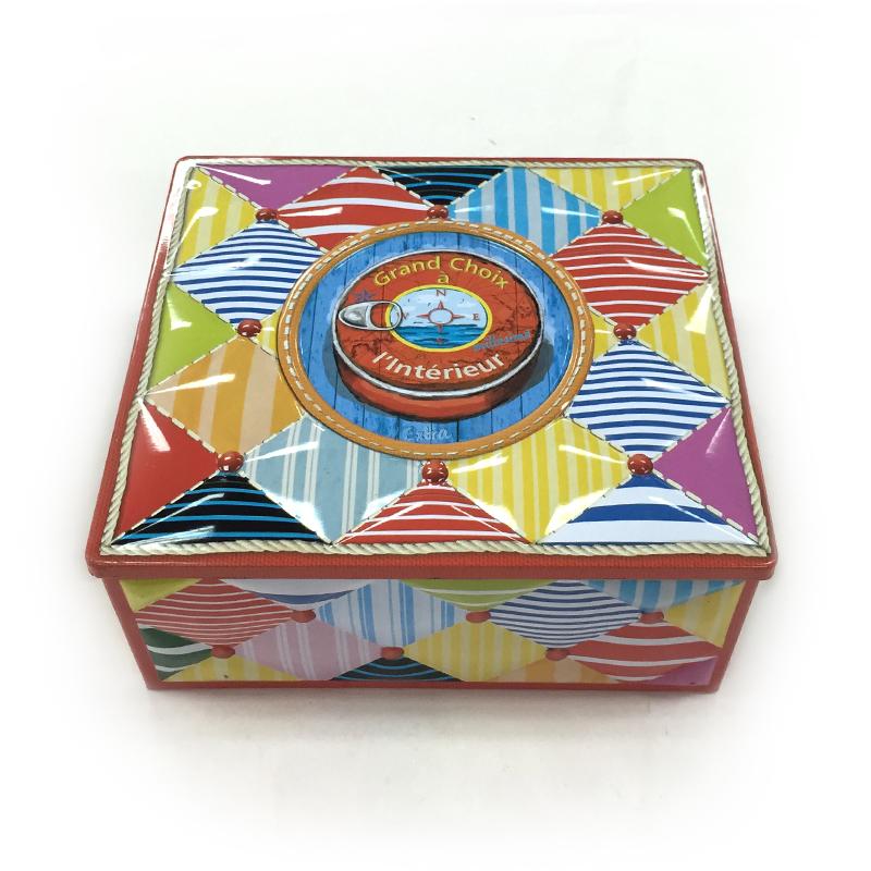 厂家生产定做翻盖饼干包装铁盒