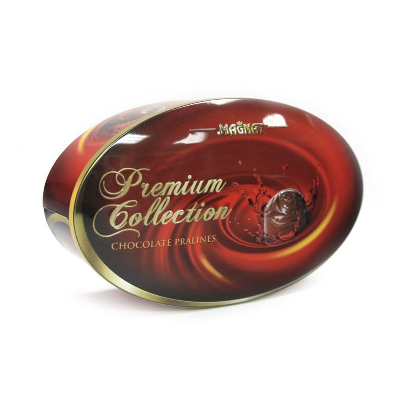厂家定制椭圆形巧克力马口铁包装盒