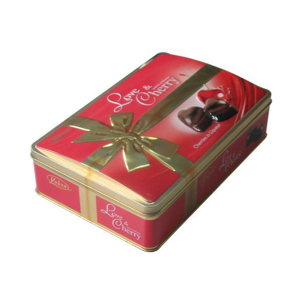 拱盖巧克力礼盒厂家定制 拱盖马口铁长方铁罐