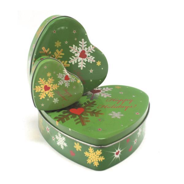 制罐厂家定制心形糖果礼品铁罐 心形套装礼盒铁盒