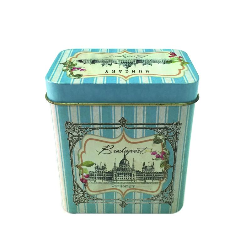 厂家定制高品质欧式茶叶金属铁罐制罐 长方形铁罐