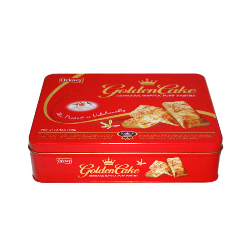高档长方形饼干铁盒生产定做工厂