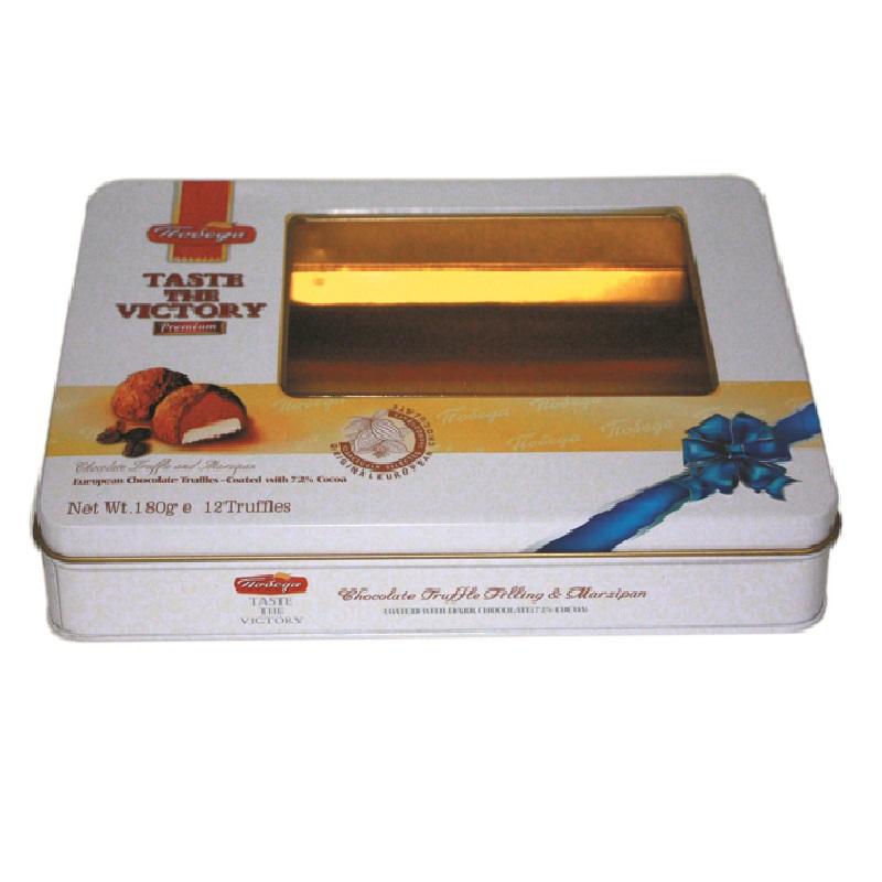 厂家生产定做长方形开窗糕点马口铁盒