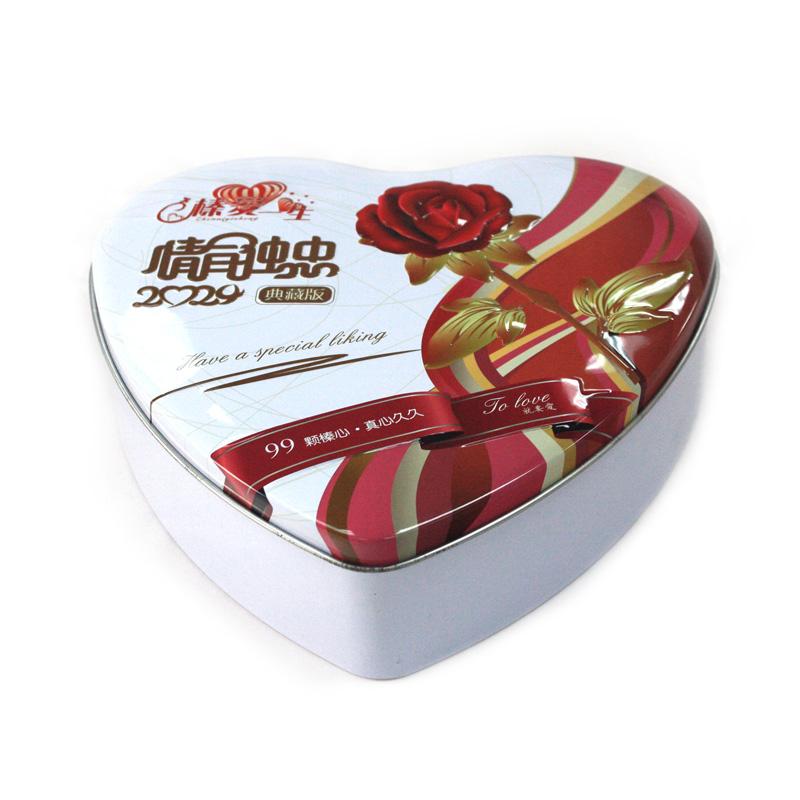 工厂生产定做心形巧克力马口铁盒