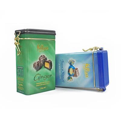 方形密气铁线扣巧克力礼品罐 长方形铁罐