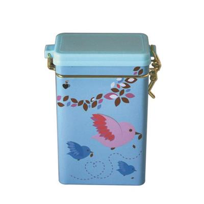 密气塑胶盖宠物粮包装铁罐 方形铁罐