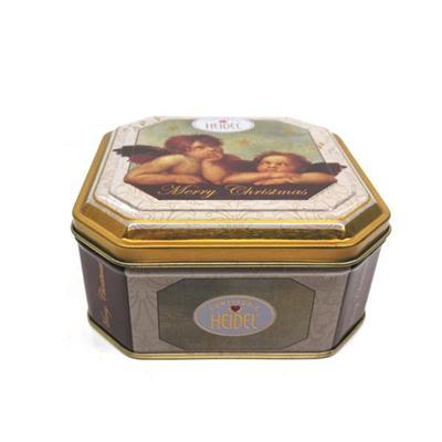 八角形小天使巧克力礼品铁盒厂家生产定制