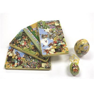 广东厂家定制复活节巧克力糖果包装铁盒