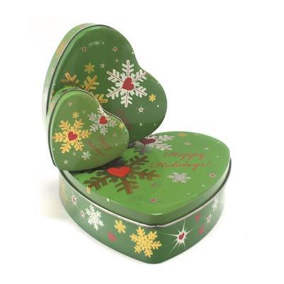 心形圣诞铁罐 糖果铁盒子 圣诞节糖果铁盒