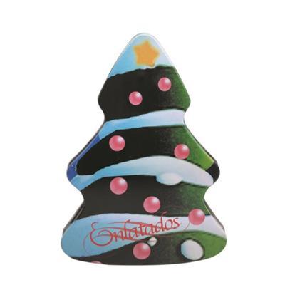圣诞树礼品包装盒 圣诞节树形礼品铁皮盒定制