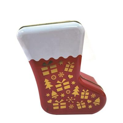 圣诞袜子铁盒|圣诞节袜子包装铁盒