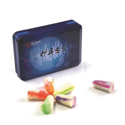塑胶马口铁复合护耳棉塞铁盒
