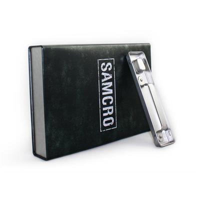 生产定制香港马口铁DVD套盒手提罐复合铁罐