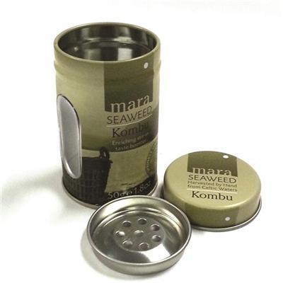 厂家定制开窗子母盖调料罐马口铁罐复合铁罐