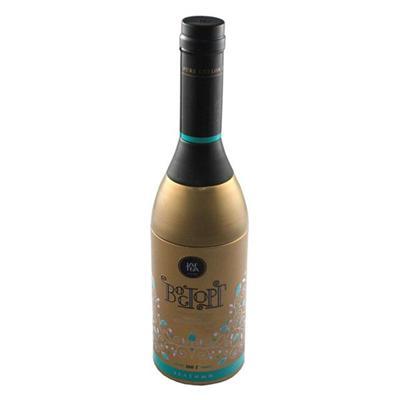 厂家定制香槟酒瓶造型茶叶罐复合铁罐