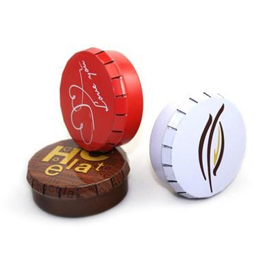 厂家定制创意马口铁噼啪罐 薄荷糖圆形铁盒
