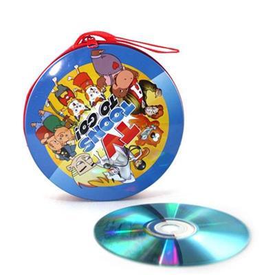 专业光盘铁盒厂定制马口铁圆形拉链CD盒