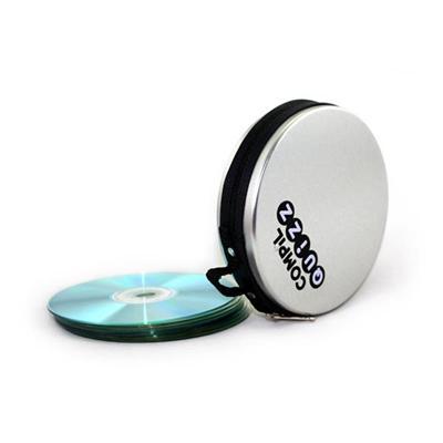 马口铁拉链CD收纳盒 拉链光盘铁盒