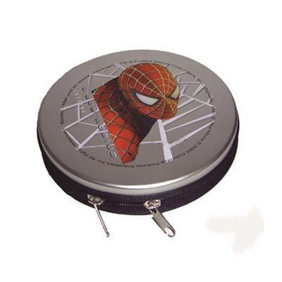 蜘蛛侠动漫光盘拉链CD盒 卡通光碟包装铁盒
