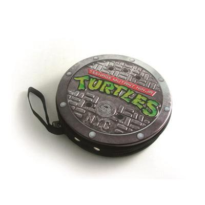 圆形激凸雕刻拉链光盘铁盒 卡通动画视频CD包