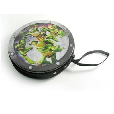 忍者神龟动画光碟拉链收纳盒 拉链光盘CD铁盒